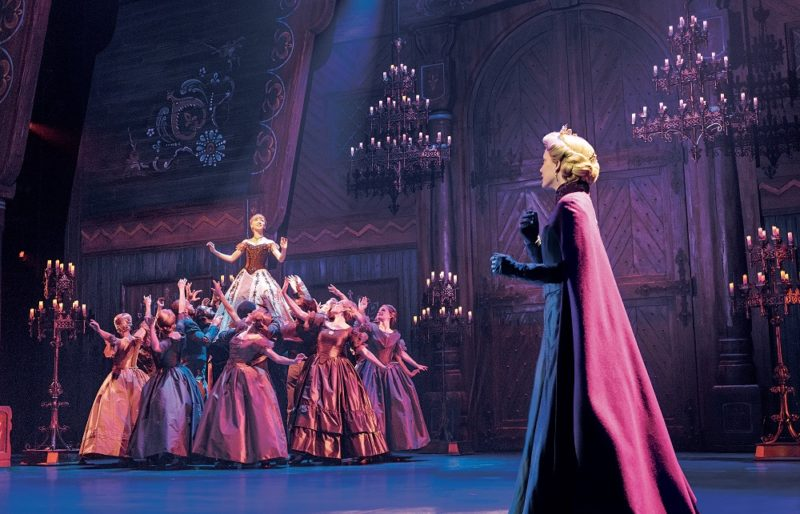 Caroline-Innerbichler-(Anna),-Caroline-Bowman-(Elsa),-and-the-Company-of-Frozen-North-American-Tour---photo-by-Deen-van-Meer